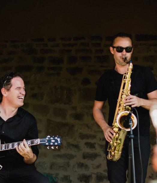 Le duo Jazz pendant le vin d'honneur